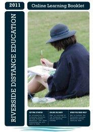 Online Learning Booklet 2010 - Riverside Christian College