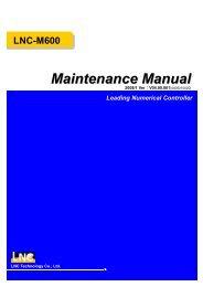 LNC-M600 Leading Numerical Controller Maintenance Manual