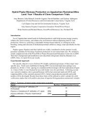 Hybrid Poplar Biomass Production on Appalachian Reclaimed Mine ...
