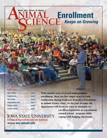 Enrollment - Department of Animal Science - Iowa State University