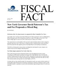 New York Governor David Paterson's Tax and Fee ... - Tax Foundation