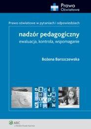 Bożena Barszczewska nadzór pedagogiczny