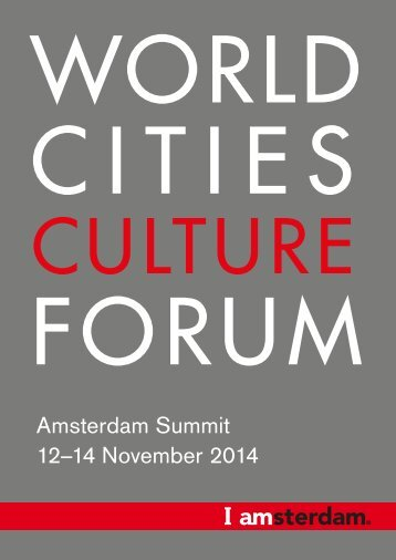 2014 Amsterdam World Cities Culture Summit Brochure