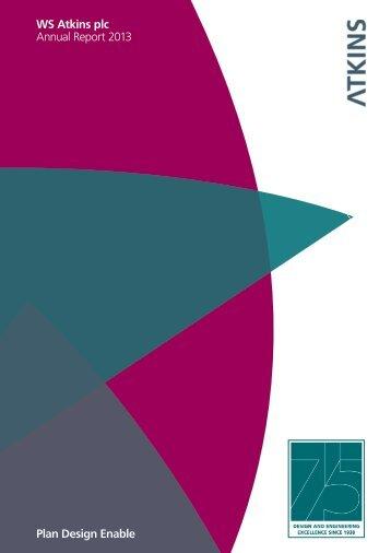 WS Atkins plc Annual Report 2013 Plan Design Enable