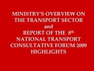 ministry overview - Transport Planning Unit