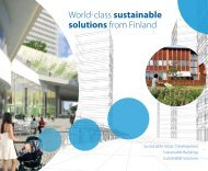 World-class sustainable solutions from Finland - Tekes