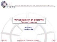 Virtualisation et sécurité - Cert-IST