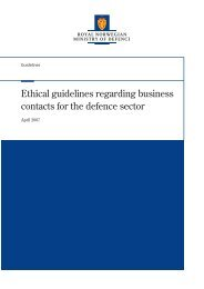 Ethical guidelines regarding business contacts for the defence sector