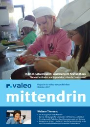Ernährung im Krankenhaus - Valeo