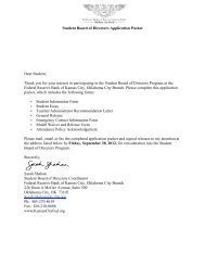 Student Board of Directors Application Packet Dear Student, Thank ...
