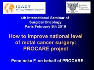 BSCS project to improve the outcome of rectal cancer surgery