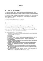Satzung (pdf, 88 kb) - bezev eV