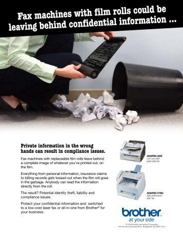 Fax machines with film rolls could be leaving behind confidential ...
