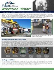 November 2010 - Yukon Zinc Corporation