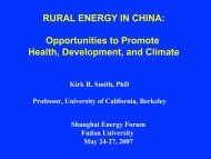 RURAL ENERGY IN CHINA: Opportunities to Promote Health ...