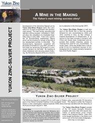 YUKON ZINC-SILV ER PROJECT - Yukon Zinc Corporation