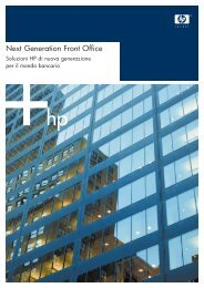 Scarica la brochure Next Generation Front Office - HP - Italia