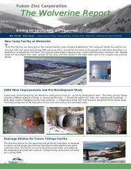 The Wolverine Report - Yukon Zinc Corporation