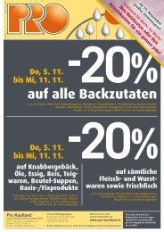 Do, 5. 11. bis Mi, 11. 11. Do, 5. 11. bis Mi, 11. 11. -20% - Pro Kaufland
