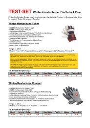TEST-SET Winter-Handschuhe: Ein Set = 4 Paar - Engelbert Strauss