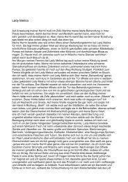 Lady Melina - Bericht von Zofe Martina (zum Herunterladen
