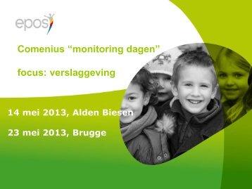 Presentatie verslaggeving (Wim Cloots) - Epos