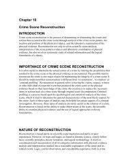 Chapter 10 Crime Scene Reconstruction INTRODUCTION ...