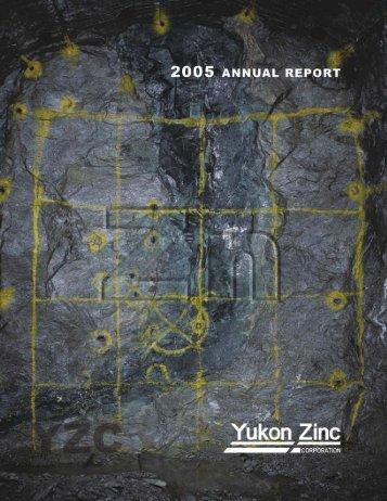 Yukon Zinc AR 05 - Yukon Zinc Corporation