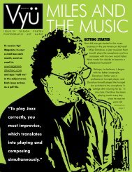 """To play Jazz correctly, you must improvise, which ... - Vyu Magazine"