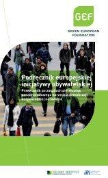 Podręcznik europejskiej inicjatywy obywatelskiej - GEF