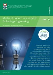 Master of Science in Innovative Technology Engineering - Waterford ...