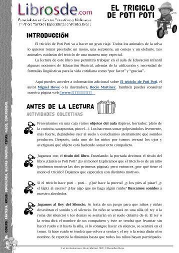 Recursos - El triciclo de Poti Poti - Miguel Howe Leon - Macmillan ...