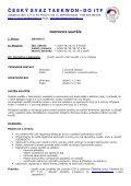 propozice - Český svaz Taekwon-Do ITF - Page 2