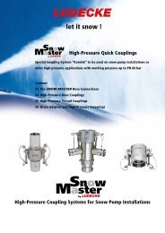 SNOW MASTER High-Pressure Quick Couplings