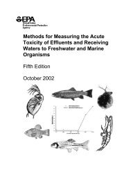 Methods for Measuring the Acute Toxicity of Effluents and Receiving ...