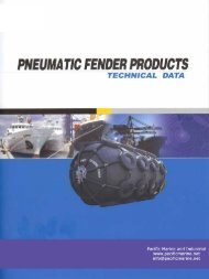 Pneumatic Fenders - Pacific Marine & Industrial
