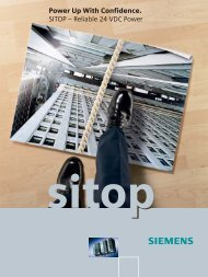 Power Up With Confidence. SITOP – Reliable 24 VDC Power