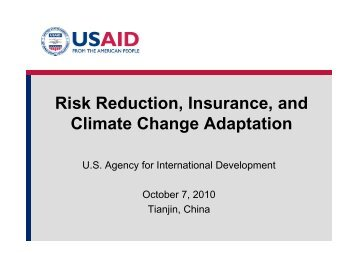 USAID Perspectives - Munich Climate-Insurance Initiative