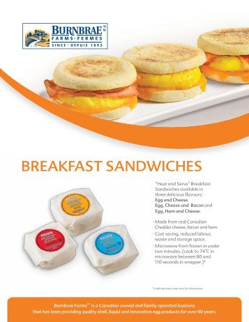 BREAKFAST SANDWICHES - Burnbrae Farms