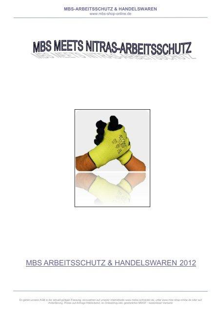 NITRAS 3420 Gr.:10 Strickbund Nitril-Schutzhandschuh blau CAT 2