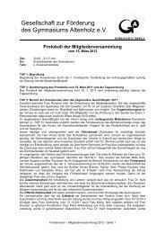 2012 - Protokoll MV - Gymnasium Altenholz