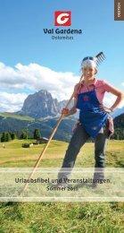 Urlaubsfibel und Veranstaltungen - Val Gardena