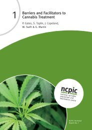 Barriers and Facilitators to Cannabis Treatment - National Cannabis ...