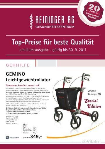 Top-Preise für beste Qualität - Reininger AG