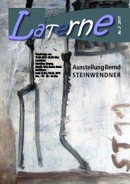 Ausstellung Bernd STEINWENDNER - Projekte-Verlag Cornelius