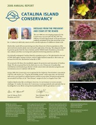 2008 ANNuAL REPORT - Catalina Island Conservancy