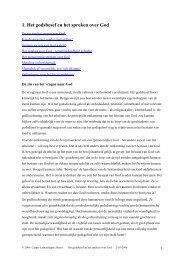 1. Het godsbesef en het spreken over God - labuschagne