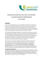 "Positionspapier des best practice-Clubs ""Familie in der Hochschule ..."