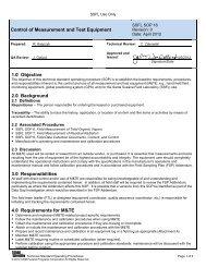 SOP16 Control of Measurement and Test Equipment - ETEC