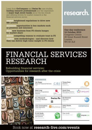 Financial Services Research conference, 14 October 2010